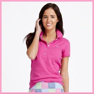 "VINEYARD VINES | ""Shoreline"" Magenta Polo Shirt"